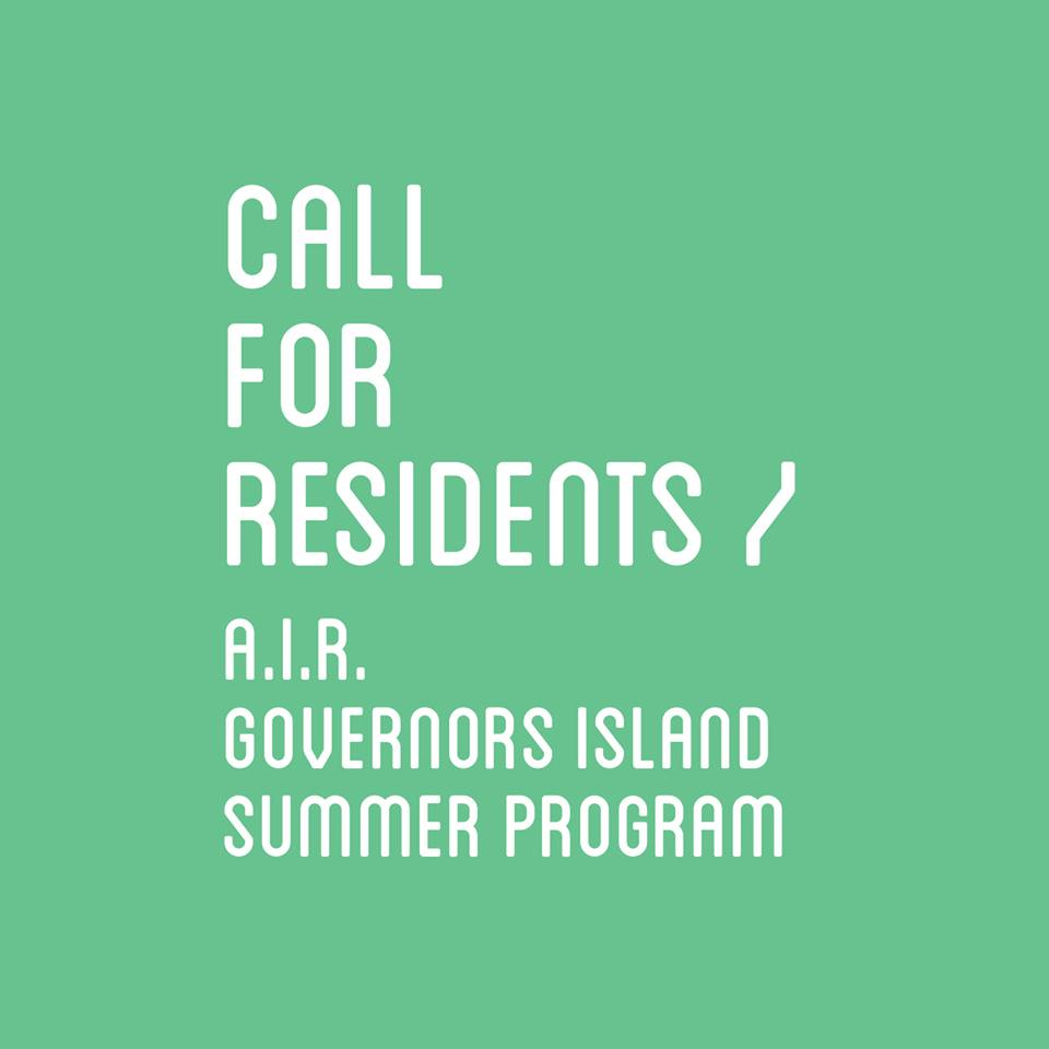 A.I.R. Gallery, Call for Residents